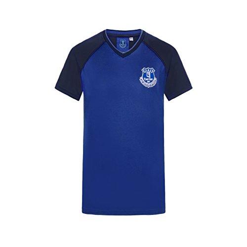 Everton FC - Jungen Trainingstrikot Aus Polyester - Offizielles Merchandise - Geschenk für Fußballfans - Königsblau - V-Ausschnitt - 12-13Jahre