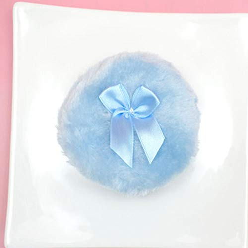 10 Cm Poudre Puffwashable Grand Corps Puff, Doux Et Furry, Premium Cotton Fluffy Puff, 2PCS, Bleu