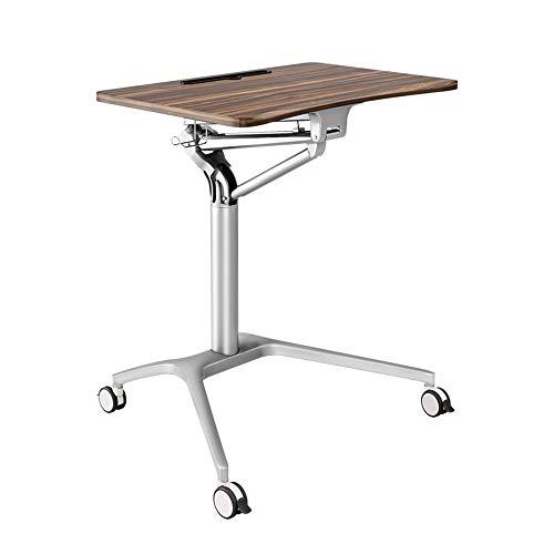 Tische MEIDUO Beweglicher Computertisch, Stehender Laptop-Schreibtisch Verstellbarer BüRotisch Werkbank mit Rollen, PC Home Office Höhenverstellbar 75-105cm Computertisch