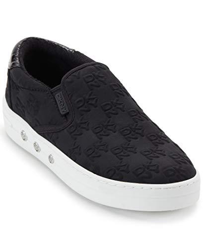 DKNY Women's CASE Sneaker, Black, 8.5