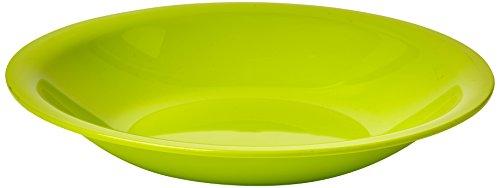 Rotho Caruba Plastikteller tief, Kunststoff (BPA-frei), lindgrün, (21 x 21 x 3,5 cm)
