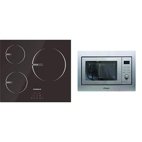 Placas De Induccion De 60 Cms. + Candy Mic201Ex - Microondas Integrable Con Grill Y Marco, Potencia 800W-1000W, Capacidad 20L, 8 Programas, Acero Inox Antihuellas