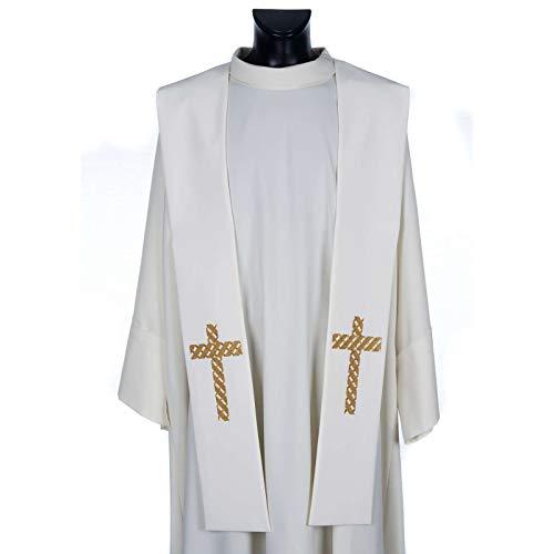 Holyart Etole liturgie avec d?cor Croix dor?e Brod?