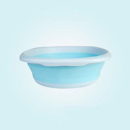 Alberta Kinder faltbares Waschbecken Baby-Kolben-Wash-bewegliches Baby Waschbecken unzerbrechlichem Kunststoff Proof Badewanne Gesicht Fuß Waschbecken-PINK S (Color : Blue S)