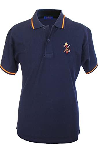 Pi2010 - Polo Legión Española/Bandera de España en Cuello y magas/Marino/Talla L