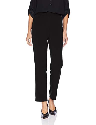 Rafaella Women's Petite Curvy Fit Short Gaberdine Pant, Black, 14P
