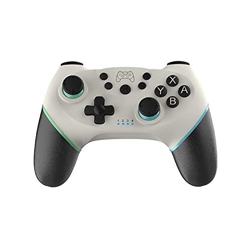 Sfqryp Gamepad inalámbrico de Gamepad Compatible con Bluetooth USB Controlador de Interruptor de Joystick (Color : White 2)