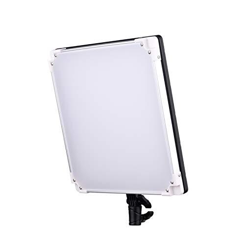 Montloxs TC-668 II Panel de luz de Video LED RGB portátil Luz de Relleno para fotografía 2800K-9900K Regulable CRI95 + 18 Pantalla LCD con Efecto de iluminación con Adaptador de Corriente para