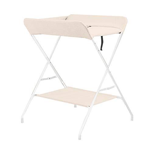 Tables De Massage Pliantes Portatives pour Bébé, Organisateur De Chambre d'enfant pour Table À Langer - Beige - 73cm (L) X 70cm (L) X 96cm (H)