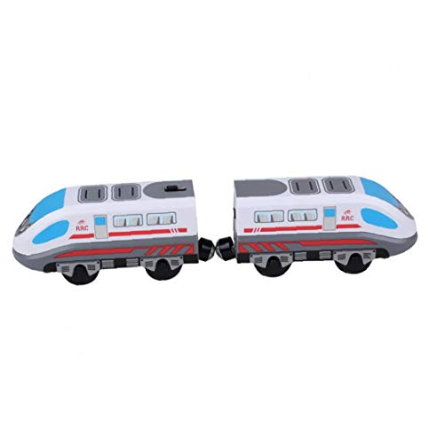lulongyansf Tren de Juguete del Carro de Pista magnética Modelo Locomotora eléctrica...