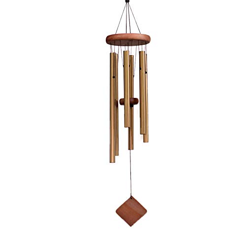 SuninYo Wind Chimes for Outside,28 Inch Wind Chimes Outdoor Clearance,Memorial Wind Chimes with 6 Metal Tubes & Hook