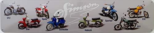 vielesguenstig-2013 Schild Blechschild Strassenschild Simson SR2 Star Spatz Schwalbe Habicht Sperber S50 S51