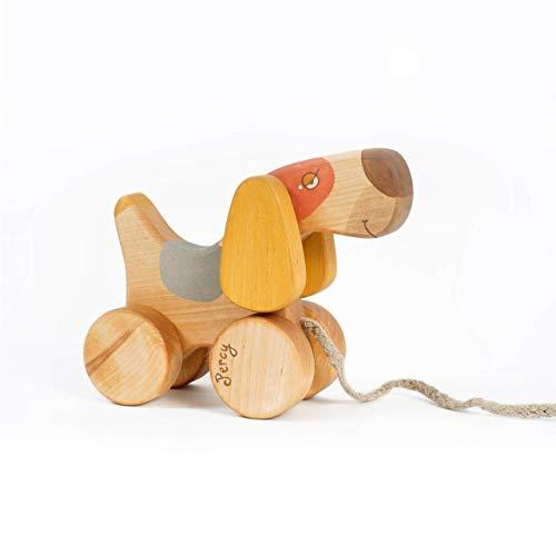 Nachziehhund, Spielzeug Hund für Kinder, Holzspielzeug 1 Jahre