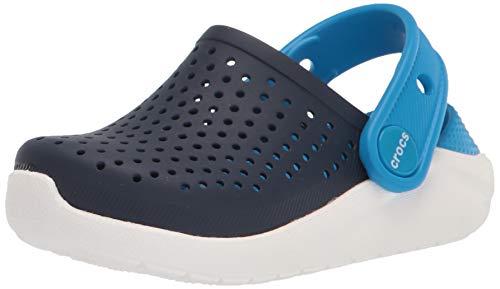 Crocs Unisex-Kinder LiteRide K' Clog, Blau (Navy/White), 29/30 EU