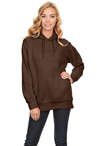 Simlu Fleece Pullover Hoodies Oversized Sweater Reg and Plus Size Sweatshirts Brown XXX Large