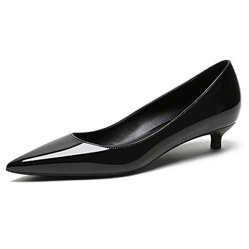 EDEFS Damen Basic Pumps,Kitten-Heel Schuhe,Elegante Pumps Schuhe,3.5cm Low Heel Pumps Größe 44