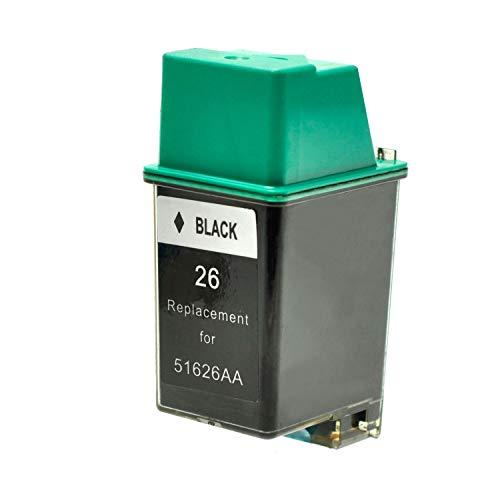 Logic-Seek XXL Tintenpatrone mit Chip kompatibel für HP 26 für DeskJet 400 520 540 550 DesignJet 600 - Schwarz 40ml