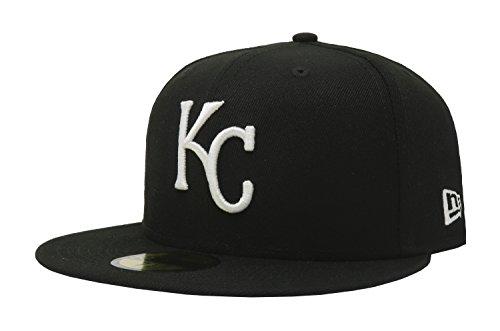 New Era 59Fifty Hat Basic Kansas City Royals Black/White Fitted Baseball Cap (8)