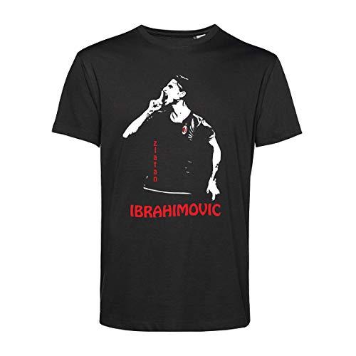 Art T-shirt, Maglietta Zlatan Ibrahimovic, Uomo, Nero, M