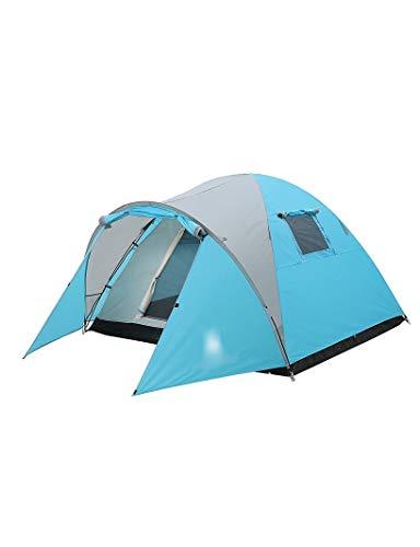 HJQZP888 Tienda De Campaña, Estructura De Dos Pisos Al Aire Libre, Tienda De Alpinismo Doble A Prueba De Lluvia, El Espacio Espacioso Generalmente Es Adecuado para 3-4 Personas (Color : Blue)