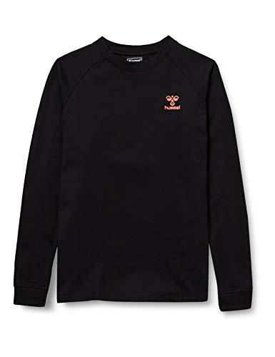 hummel Action Cotton Sweatshirt Kids, Black/Fiesta, 164