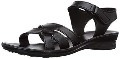 Paragon Women's Black Fashion Sandals-8 UK/India (42 EU) (PU77075L)