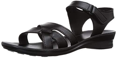 Paragon Women's Black Fashion Sandals-8 UK/India (42 EU) (PU77075L) Price in India