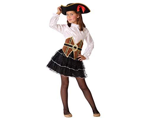 Atosa-61511 Atosa-61511-Disfraz Pirata-Infantil Niña, Color marrón, 10 a 12 años (61511