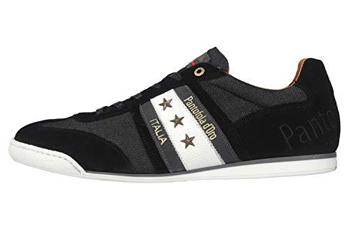 Pantofola d'Oro Imola Denim Uomo Low Sneaker in Übergrößen Schwarz 10201044.25Y/10201070.25Y große Herrenschuhe, Größe:47
