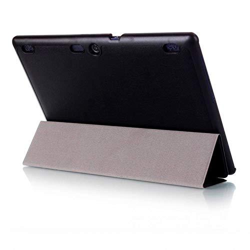 Lobwerk Hülle für Lenovo Tab 2 A10-30 A10-70F / Tab 10 TB-X103F 10.1 Zoll Smart Cover mit Auto Sleep/Wake + Touchpen Schwarz