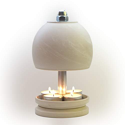 HP-TLO-Serie-K-W-22/13-4 - Lámpara para velas de té, diseño de bola, color blanco