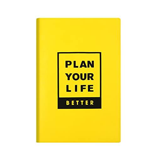 DREAMDEER Cuaderno de Notas de Escritura de Cuero, Cuaderno de Papel Beige, Cuaderno Personal A5, Diario - Amarillo