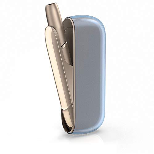 kwmobile Custodia Protettiva Compatibile con IQOS 3 Pocket Charger - Case Protezione in Silicone TPU - Astuccio per Kit Batteria e-Cig - Blu/Trasparente