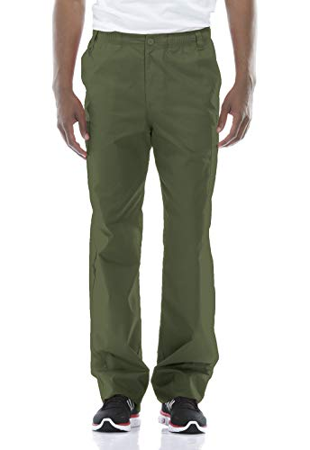 Dickies Men's Big Signature Elastic Waist Scrubs Pant, Olive, XX-Large Tall