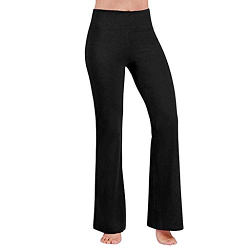Best Buy! F_Gotal Bootcut Yoga Pants for Women High Waist Tummy Control Wide Leg Bootleg Leggings St...