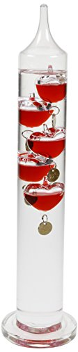 Koch KISS Galileo thermometer, glas, rood, 37 cm
