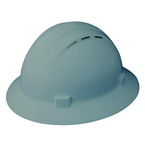ERB 19637 Americana Full Brim Vent Mega Ratchet Hard Hat - Tamaño: 6 1/2-8, Gris
