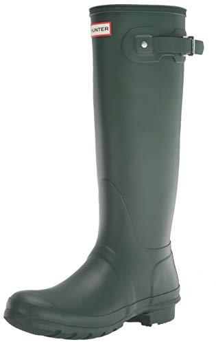 HUNTER hunter damen original tall rain boots,hunter grün (matte) size 9