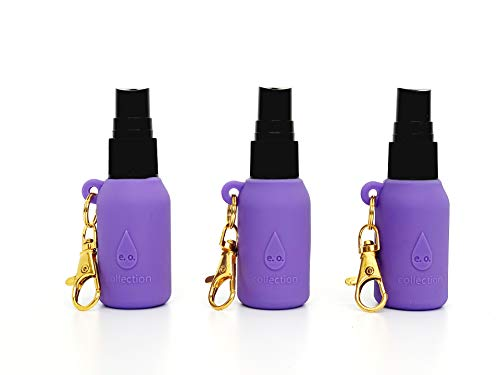 Hand Sanitizer Keychain Bottle Holder and Spray Top for 15ml Boston Round Bottles NOT Included
