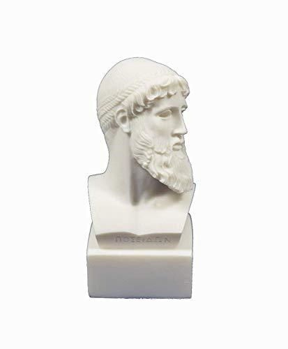 Antiguo Dios Griego Zeus Busto Rey Todos Dioses Estatua