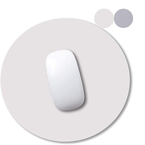 AndThere Mauspad Gaming Mauspad PU Leder Mauspad Wasserdichtes Rutschfestes Mousepad Runde Office Mausunterlage Larges Doppelseitiges Mousepad Mouse Pad Matte für PC Laptop Computer Home (250x250mm)