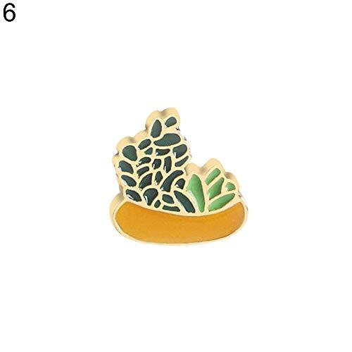 MEIDI Home Sparkly Wunderschöne Brosche - Kreative Aloe Kaktus Topfpflanze Emaille Brosche Frauen Kleidung Schmuck Geschenk für Hochzeit Weihnachts Party Liebhaber Frauen Geschenk