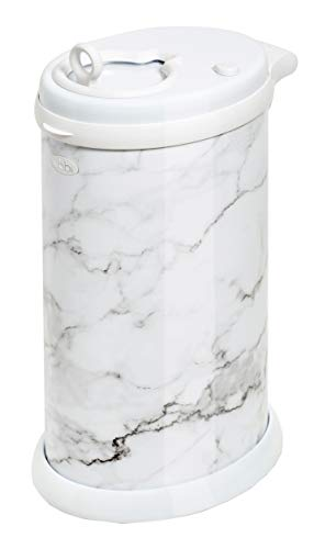 Ubbi Steel Odor Locking, No Special Bag Required Money Saving, Awards-Winning, Modern Design Registry Must-Have Diaper Pail, Marble