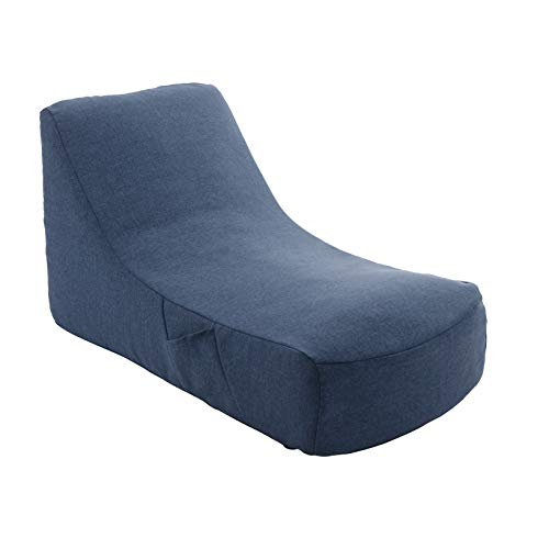 セルタン 日本製 カバーが洗える 圧縮 座椅子 デニム調インディゴブルー 和楽のため息 収納ポケット付 A911a-612DBL