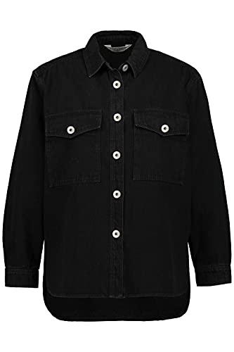 Studio Untold Jeans Hemd Camisa, Black Denim, 58+ para Mujer