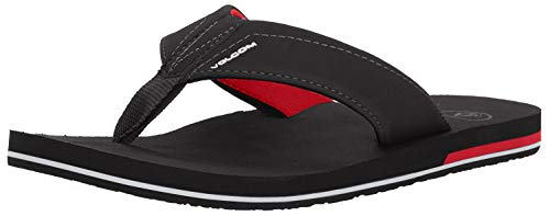 Volcom Chanclas Victor, Color: BLACK TOP, Size: 38 EU (6 US / 5 UK)