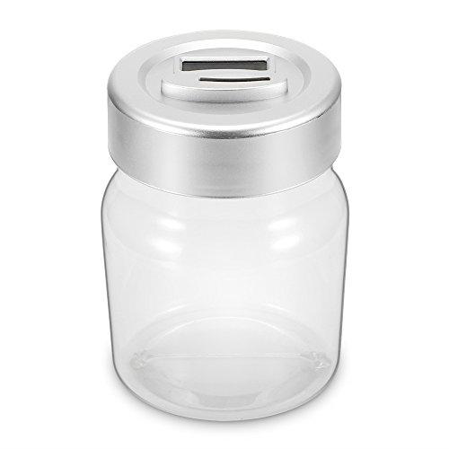 Frasco ahorrador de dinero, moneda digital creativa Recuento de dinero Caja de ahorro Banco de frasco con pantalla LCD para regalo (Euro), Gran capacidad hasta 2.5 L