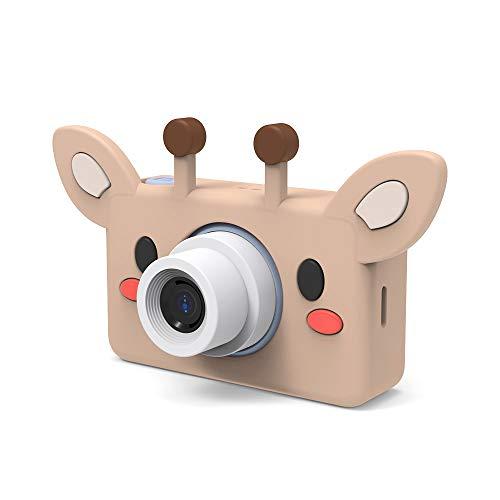 LJJY Kinder-Digitalkamera, Cartoon-SLR-Sportfotografie-Tool 800W Pixel HD intelligente Kamera-Timing-Selbstauslöser,Giraffe