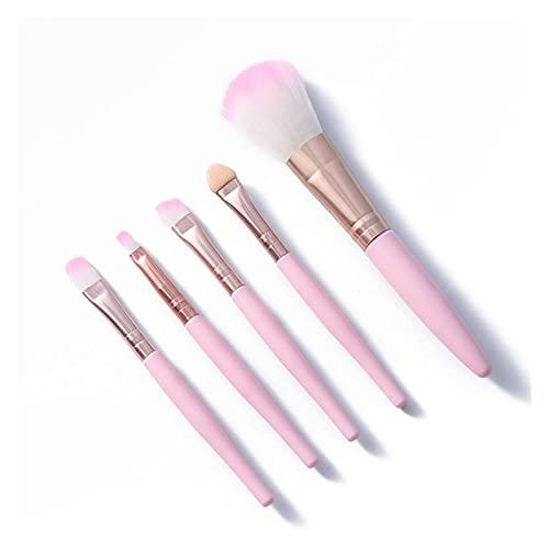 JSJJAQW Pinceau de Maquillage 1set 5pcs Maquillage Brosse Set Cosmétique Débutant Beauty Tool Tool Foundation Blush Eye Shadow Brush Femmes Maquillage cosmétique Outils (Handle Color : 02(1Set))