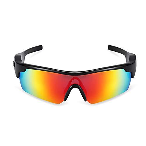 Wireless Bluetooth 4.1 occhiali da sole polarizzati a conduzione ossea occhiali stereo musica cuffie IP55 impermeabile sport open ear auricolare, con microfono per Android/iOS (multicolore)
